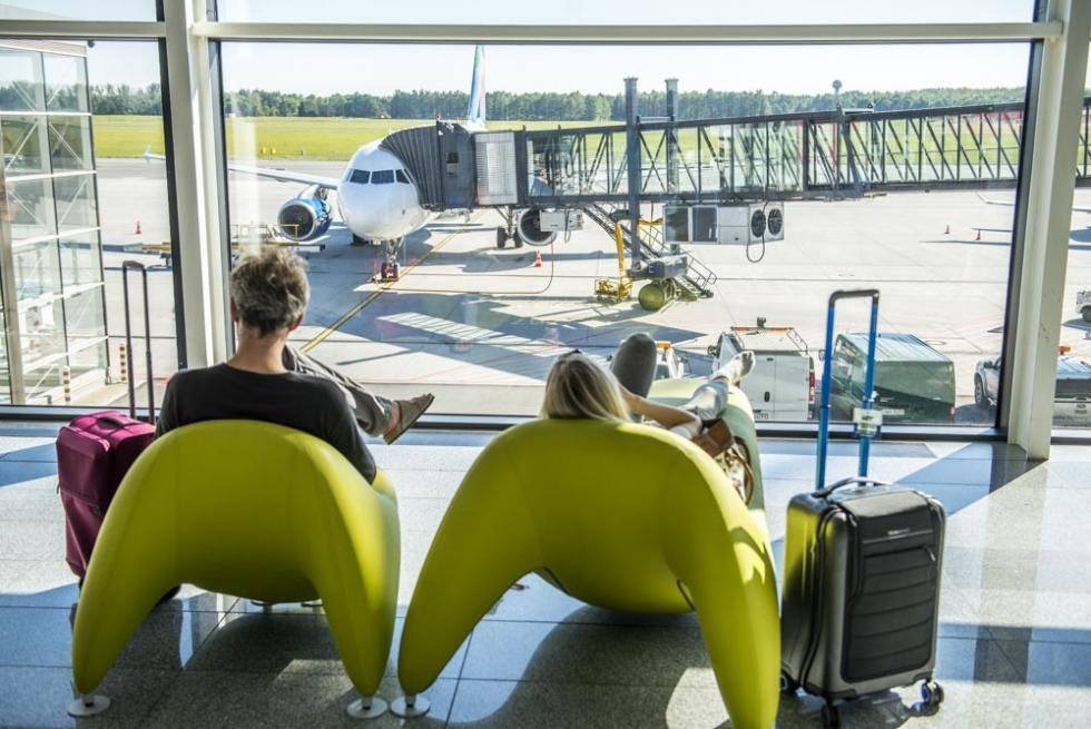 W styczniu o10% pasażerów więcej na wrocławskim lotnisku